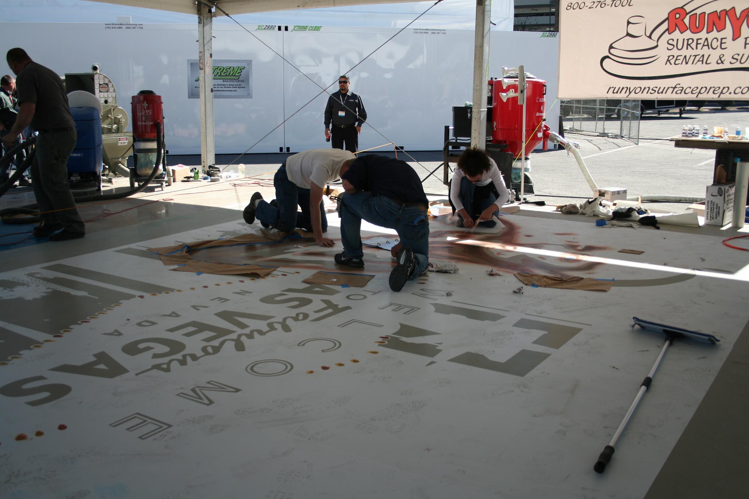 Лас-Вегас, выставка, бетонные полы